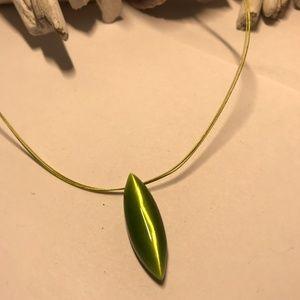 Green Simple Style Necklace W/ Fine Multi-Strands